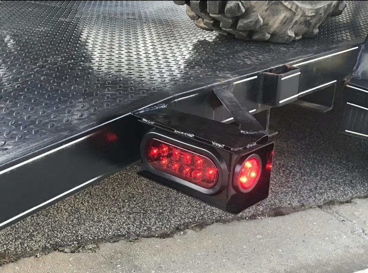 Long Haul New Trailer/Truck Steel Housing Box with Oval Tail Light & Round LED Lights