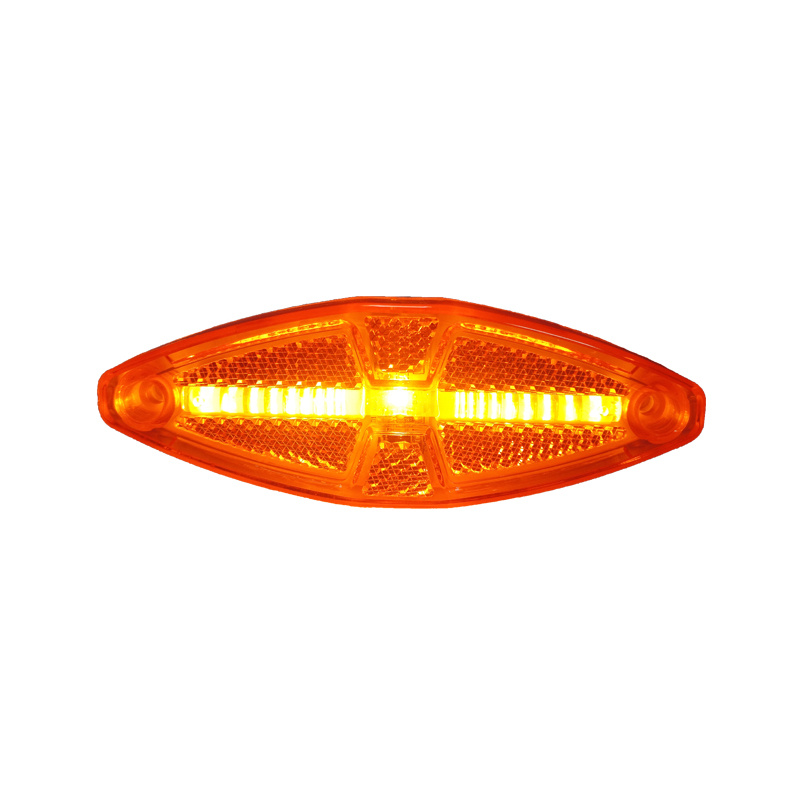 Optical Strip LED Clearance/Side Marker Light Built-in Reflex Reflector with Light Guide Bar Technology for Trailer/Truck/Coach/Bus LED Light